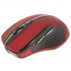 MC Saite 2,4 GHz Wireless Optical Mouse 500/1000dpi w / Receiver - rot + schwarz (2 x AAA)