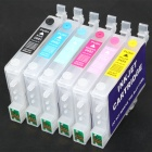 6-Color Ink Jet Cartridge for Epson Printers