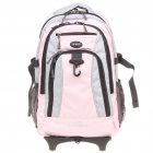 Outdoor Multi-Function Backpack Trolley Bag with Wheels - Pink