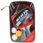 NINJA Sports Table Tennis Paddles with 3 Ping-Pong Balls