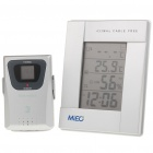 Wireless Indoor/Outdoor Digital Hygrometer/Thermometer w/ Dual Alarm Clock (2xAA / 2xAAA)