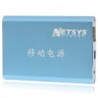 NETSYS Rechargeable 6000mAh Emergency Power Battery Pack w / Adapter - Blue