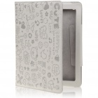 Cute Cartoon Patterns PU Leather Wake-Up/Sleep Case for Ipad 2 - Gray