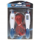 "NINJA Exercise Skipping Jumping Rope w/ 1.0"" LCD Digital Counter - Random Color (320cm-Rope)"