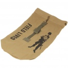 Outdoor Military War Game Multi-Function Canvas Backpack Bag - Earthy Tan (Size-L)