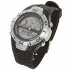 Stylish Water Resistant Digital Golf Wrist Watch - Black + Silver (1 x CR2032)