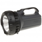 Rechargeable 3W 200-Lumen 2-Mode 1-LED White Light Spotlight Searchlight - Dark Grey