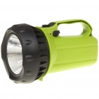 Rechargeable 3W 200-Lumen 2-Mode 1-LED White Light Spotlight Searchlight - Green