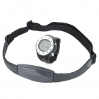 Stylish Multifunction Water-Resistant Wireless Heart Rate Monitor Sports Watch - Black + Silver