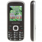 "ALCATEL C60 2.0"" LCD Dual SIM Dualband GSM Cell Phone w/ TF/FM for Senior Citizens - Black + Silver"