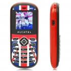 "Alcatel OT-209 1,45 ""LCD-Dualband GSM Handy w / FM / Flashlight - British Red"