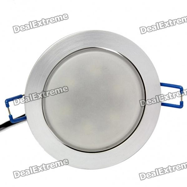 6W 6500K 430LM 6-LED White Light Ceiling Lamp (85~265V)