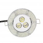 3W 3300K 200LM 3-LED Warm White Light Ceiling Lamp (85~265V)