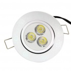 3W 6500K 230LM 3-LED White Light Ceiling Lamp (85~265V)