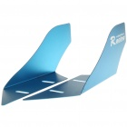 Cool Universal Car Decorative Front/Rear Wind Fins - Blue (Pair)