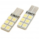 T10 1.2W 8000K 194-Lumen 12-5050 SMD LED White Light Bulbs (DC 12~14V/Pair)