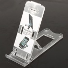 Portable 5-Level ABS Stand Holder for Ipad 2/Ipod Touch 4/Iphone 3g/4 - Transparent