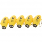 Cute Cartoon WOW Figures LED Projector Flashlights - Yellow (5-Piece/3 x LR41)