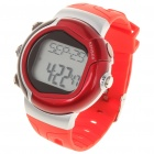 Stylish Digital Sports Heart Rate Monitor Wrist Watch - Red (1 x CR2032)