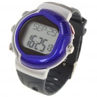 Stylish Digital Sports Heart Rate Monitor Wrist Watch - Black + Purple (1 x CR2032)