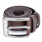 Stylish Men Cow Leather Belt w/ Zinc Alloy Buckle - Coffee