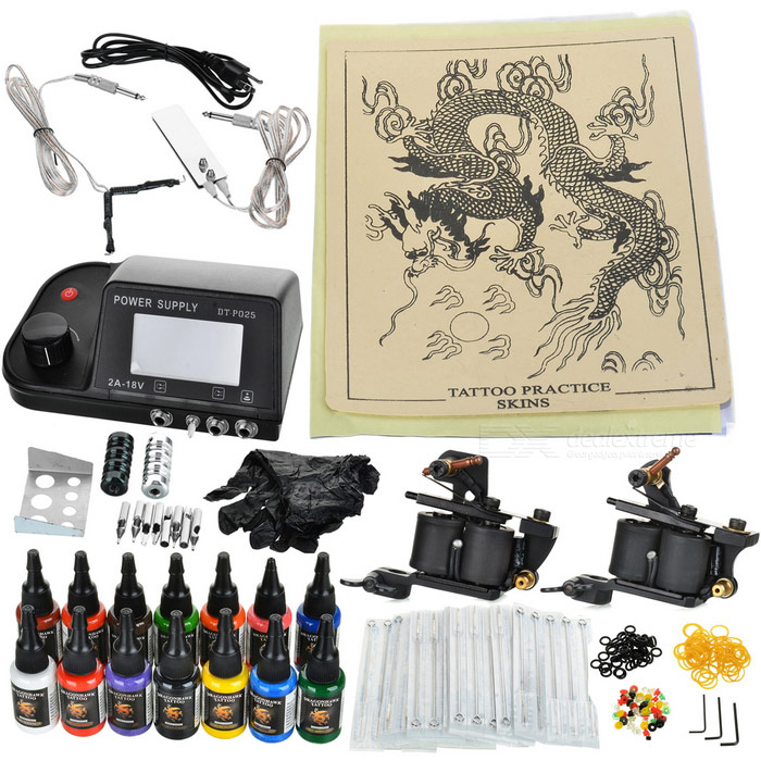 D201 Professional 2 Guns Tattoo Complete Kit