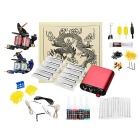 Komplette Tattoo Kit 2 Maschinen Power Ink Set Ausstattung