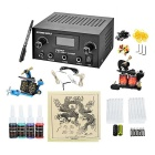 Complete Tattoo Kit 2 Machines Gun for Starter Power Supply Needles