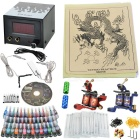 Tattoo Kit 2 Machines Gun 54 Color Inks Power Supply Needles Set Equipment