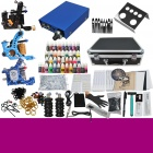 Complete 3 Tattoo Machines Guns 40 Color Inks Power Supply Needles Set