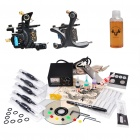 Complete Beginner 2 Tattoo Machines Guns Kit with Analog Power Supply