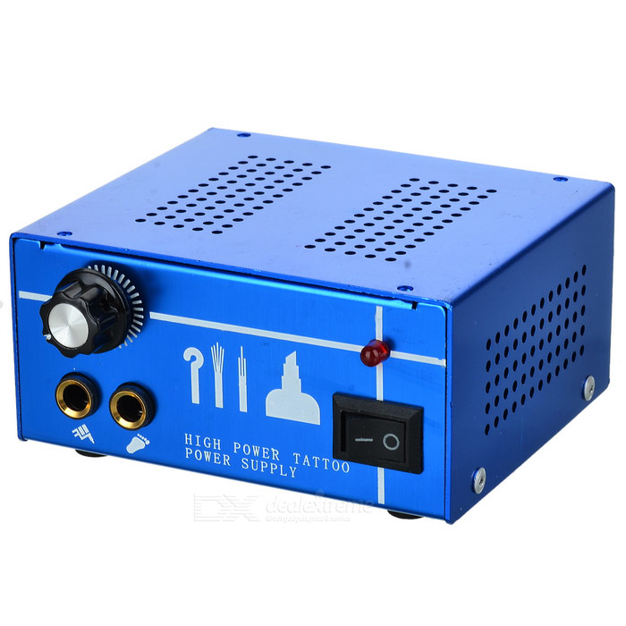 High-Quality Tattoo Power Supply - Blue (AC 100V/260V)