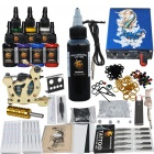 Complete 1 Tattoo Gun w/ Power Supply 7 Color Inks Needles Set (D221)