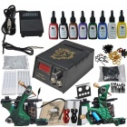 Complete 2 Tattoo Guns w/ Power Supply 8 Color Inks Needles Set (D223)