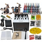 Complete 2 Tattoo Gun w/ 28 Color Inks Power Supply Needles Set (D230)