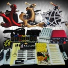 Complete 3 Tattoo Guns w/ 7 Ink Mini Power Supply Set (D148)