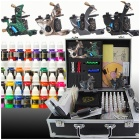 Complete 4 Tattoo Guns w/ 40 Ink Power Supply Set (D120)