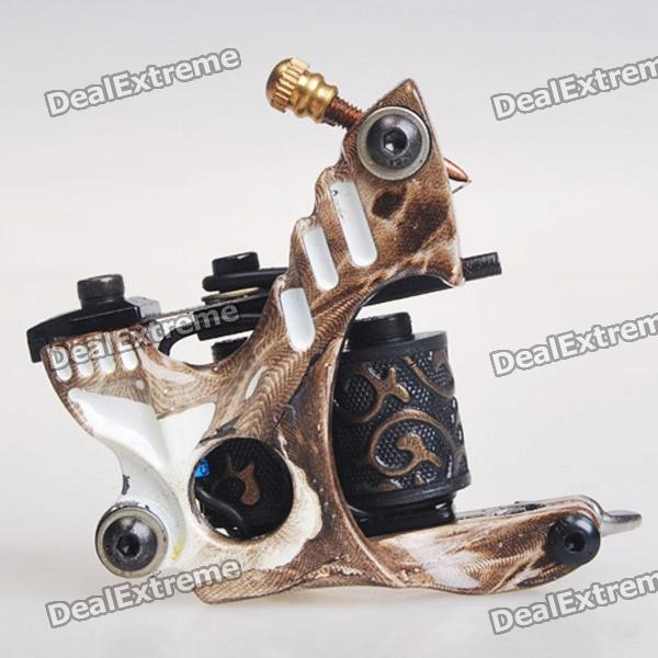 Custom Cast Iron Tattoo Machine Liner Shader Gun (HM37) professional handmade tattoo machine 10 wrap coils iron cast frame custom tattoo gun for liner shader free shipping tm 811