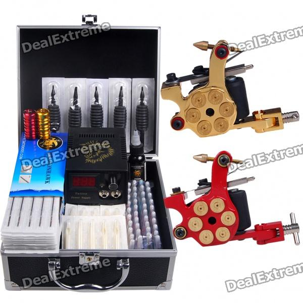 Tattoo Kit 2 Top Machine Gun Power Needles 40 Ink