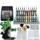 Beginner Tattoo Kit Set 54 Color Inks Power 2 Guns