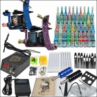 Tattoo Kit 2 Machines 40 Color Inks Power Supply Needles Set