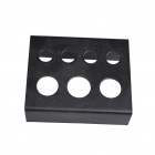 Tattoo Mini Ink Cup Holder Stand 7 Cap Supply Set - Black