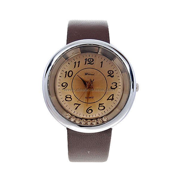 Stylish Lady Wrist Watch (Coffee Strap)