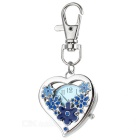 Love Heart Style Clip-on Quartz Watch - Blue + Silver