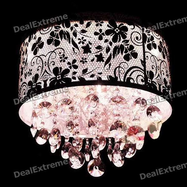 Chrome Round Crystal Chandelier