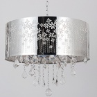 Indoor Chrome Crystal Round Shade Ceiling Chandelier