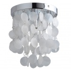 Mini White Shell Ceiling Lighting (Chrome Finish / 110~120V)