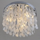 White Shell Ceiling Lighting (Chrome Finish / 220~240V )