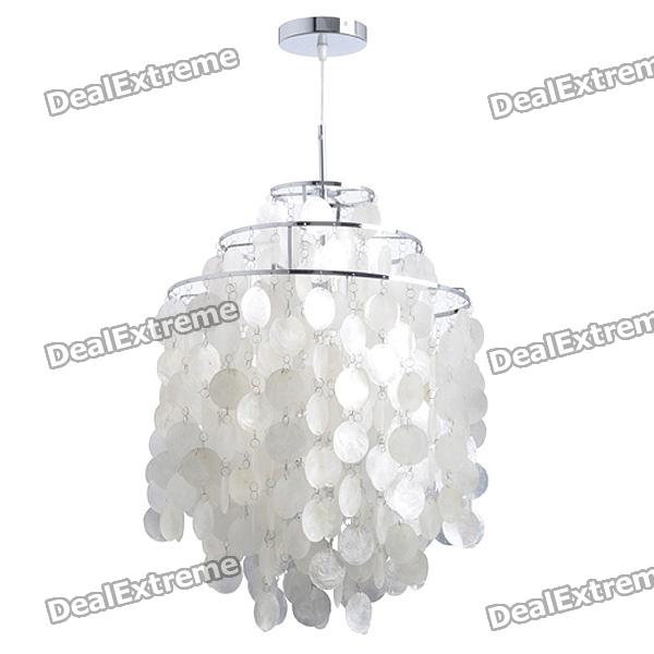 Mini White Shell Pendant Chandelier