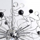 Black And White Crystal Spiral Chandelier (K9 Crystal)
